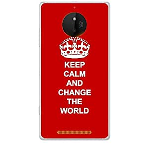 Skin4gadgets Keep Calm and CHANGE THE WORLD - Colour - Red Phone Skin for NOKIA LUMIA 830