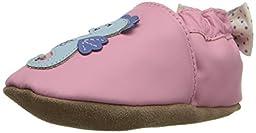 Robeez Sally Seahorse Soft Sole Crib Shoe (Infant), Pastel Pink, 12-18 Months M US