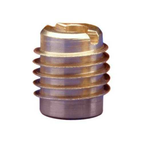 E-Z Lok Threaded Insert, Brass, Knife Thread, #8-32 Internal Threads, 0.375