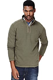 North Coast Pure Cotton Funnel Neck Half Zip Top