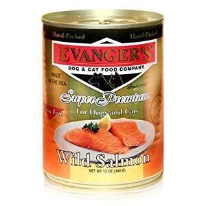 Evanger's Evanger's Wild Salmon Dog/Cat Canned Food Evanger's Wild Salmon Dog/Cat 12/12Oz Canned Food