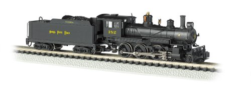 Bachmann Industries #182 Baldwin 4-6-0 Steam Locomotive And Tender Dcc Equipped Nickel Plate Train Car, N Scale front-227064