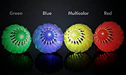 【4 Pack】Elecrainbow LED Badminton Shuttlecock For Outdoor Sports Activities at Dark Night