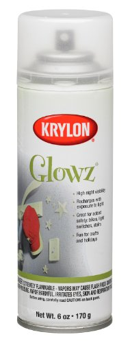 Krylon K03150 Glowz Aerosol Spray Paint, 6-Ounce, Glow-In-The-Dark