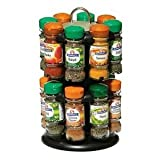 SCHWARTZ - Revolving Spice Rack with 16 Spices - Black