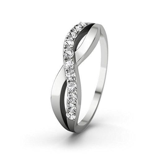 21DIAMONDS Women White Topaz Engagement Ring Brookelyn Brilliant Cut 9Ct White Gold Engagement Ring