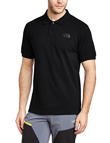 The North Face - Camicia a maniche corte da uomo piquet, Uomo, Polo M Piquet, Nero, XXL