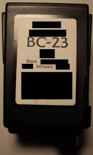 Druckerpatrone BC 23 Refill black für Canon Drucker BJC 2000 2100 2110 2115 2120 4000 4100 4200 4300 4400 4500 4550 4650 5000 5100 5500 S100 Fax B150C B160 B180C B210C B215C B230C EB10 EB15 Fax Multipass C100 C20 C2500 C30 C3500 C50 C5000 C5500 C635 C70 C80 S100 T-Fax 362 362PC 363PC 5500 5830 Fax 940 Apple Color Stylewriter 16-600 Panasonic UF342 UF344 Siemens Fax 940 IH-205
