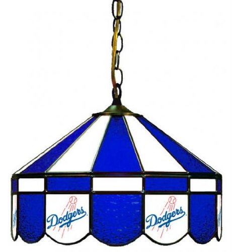 MLB Los Angeles Dodgers 16-Inch Diameter Stained Glass Pub Light at Amazon.com