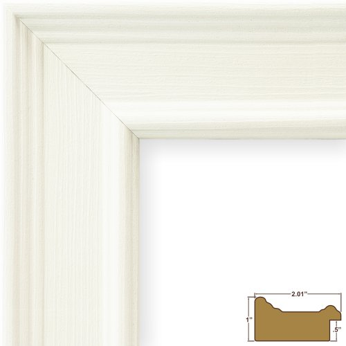 craig frames 76658954 24 by 36 inch picture frame wood composite 2 inch wide white