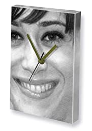 LIZZY CAPLAN - Canvas Clock (LARGE A3 - Signed by the Artist) #js001