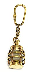 Artshai sleek brass Lamp design keychain