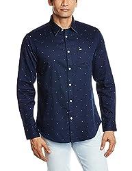 Arrow Sports Men's Casual Shirt (8907259805252_ASRS3003_44_Navy)