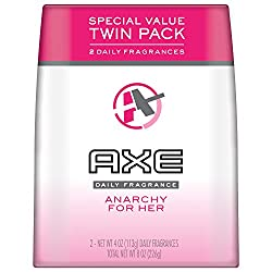 Axe Bodyspray, Anarchy For Women Twin Pack, 4 Oz.