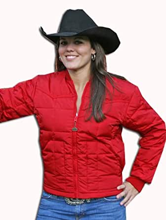 Walls Mens Western Insulated Bull Rider Down Jacket Red Large