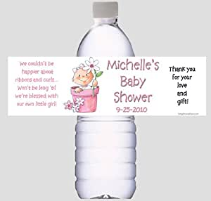 baby shower water bottle labels for favors or decorations