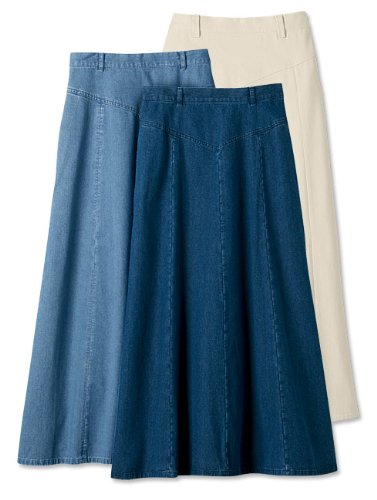 Vintage Denim Prairie Skirt / Regular, Dark Indigo, 18
