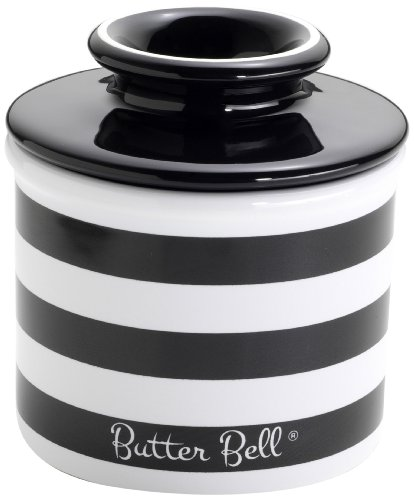 The Original Butter Bell Crock by L. Tremain, Black Striped