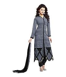 Cenizas Black Colour Semi-Stiched Salwar suits