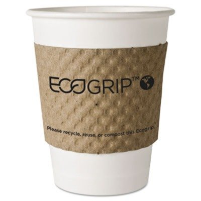 EcoGrip Recycled Content Hot Cup Sleeve, Kraft, 1300/Ctn by ECO-PRODUCTS, INC (Catalog Category: Office Maintenance, Janitorial & Lunchroom / Food & Beverage)