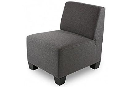 moderner Sessel ohne Armlehnen Textil anthrazit Loungesessel Lounge-Stil neu
