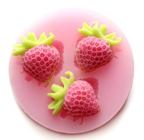 Dgi Mart Diy Craft Silicone Mold Home Kitchen Use Silicone Strawberry Embossing Mold Fondant Lace Mould Fondant Cake Decoration Mould Polymer Clay Mould Resin Mould front-620588