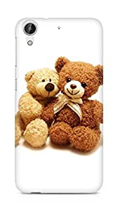 Amez designer printed 3d premium high quality back case cover for HTC Desire 626 G Plus (I Love You Teddy Bear)