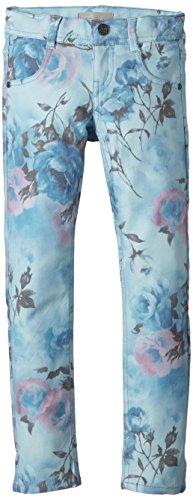 name it, Mädchen Hose, Nitflora in blau mit Blumen (134)