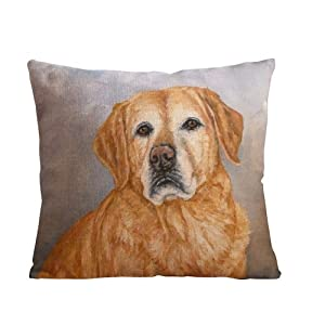 ilkin Decorative Dog painting custom personalized pillow cases 18 x 18 Inch Linen Cloth Pillow Cover Cushion Case