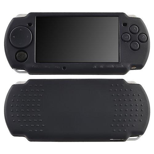 Negro-Silicona-Goma-Funda-Carcasa-Para-Sony-PSP-Fina-2000-3000