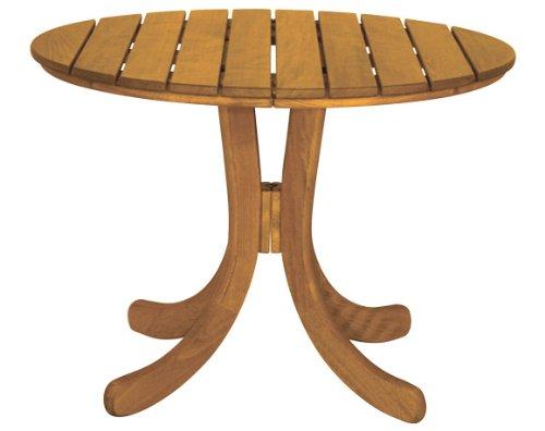 Gartentisch Sylt oval - ausziehbar- Holz braun lackiert - Qualität aus Deutschland