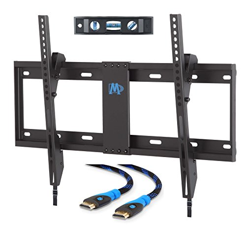 Mounting Dream MD2268-LK TV Wall Mount Tilting Bracket for Most 42-70 Inch LED, LCD and Plasma TVs up to VESA 600 x 400mm and 132 LBS Loading Capacity, 6 FT HDMI Cable and Torpedo Level (65 Inch Bracket compare prices)