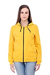 Bonhomie Women Sweatshirts [BCQSO35_Yellow_Large]
