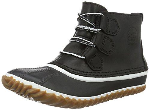 Sorel Out N About Leather, Stivali Chukka Donna, Nero (Black, White 011Black, White 011), 38.5 EU