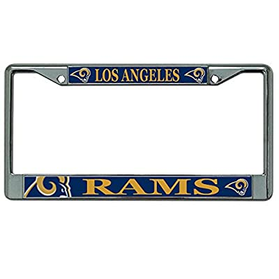 Los Angeles Rams NFL Team Logo Auto Car Truck SUV Vehicle Universal-fit Laser Chrome Metal License Plate Frame - Mega Style