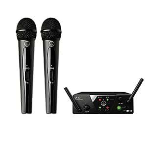 AKG 2チャンネルB帯ワイヤレスシステム WMS40 PRO MINI2 VOCAL SET DUAL 【国内正規品】