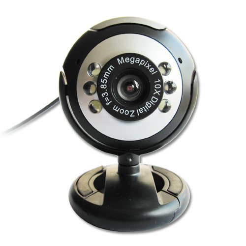 1 X USB 30.0M 6 LED Webcam Camera Web Cam With Mic For Desktop PC Laptop