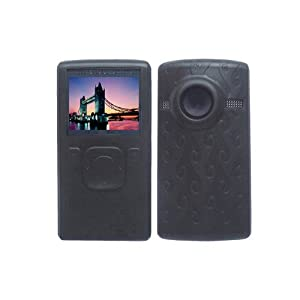 Black Soft Silicone Skin Case for Flip Ultra HD Camcorder