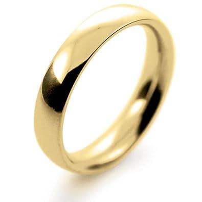 18ct Yellow Gold Wedding Ring Court Very Heavy - 4mm