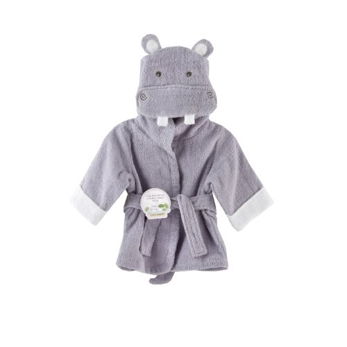 Baby Aspen Hug-alot-amus Hooded Hippo Robe, Lavender