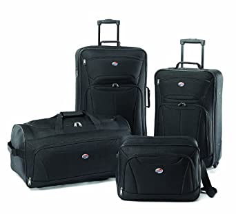 American Tourister Luggage Fieldbrook II 4 Piece Set, Black, One Size