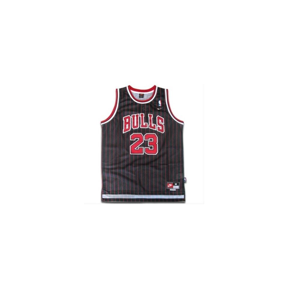 e897c0759134 Michael Jordan  23 Chicago Bulls NBA Jersey Black Pinstripe Size XXL ...