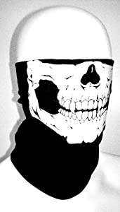 Meta-U 2pcs Stretchable Tubular Skull Face Mask Motorcycle Biker Snowboards from Meta-U
