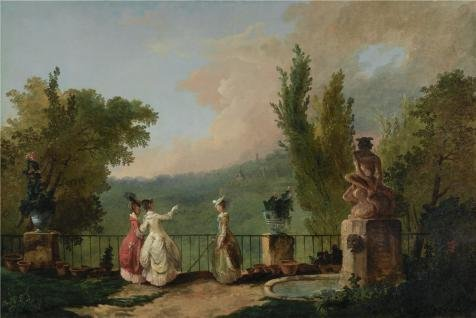 Oil Painting 'Hubert Robert,The Terrace At The Chteau De Marly,about 1780' 12 x 18 inch / 30 x 46 cm , on High Definition HD canvas prints is for Gifts And Dining Room, Hallway And Kids Room decor (Nissan Rouge Air Filter compare prices)