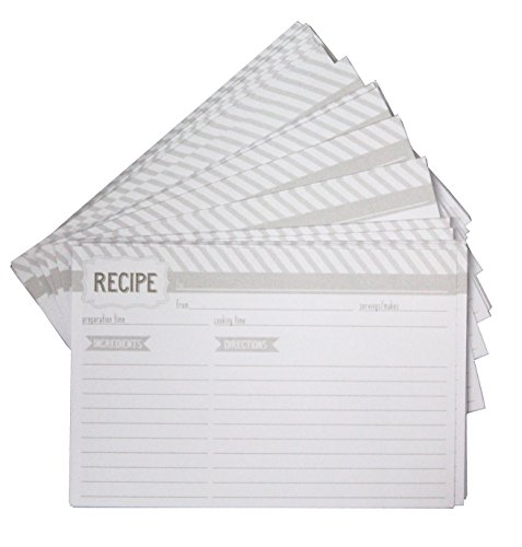 Eccolo Recipe Keeper Refill Cards, 4 by 6-Inch, 100-Pack (Recipe Cards 100 compare prices)