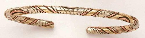 Three Metals Rounded/Twirls – Copper Bracelet – From India