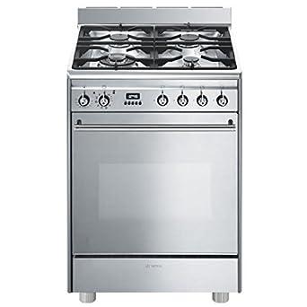 Smeg GP61X9 cuisinière - fours et cuisinières (Autonome, Miroir, Acier inoxydable, Electrique, Gaz, Convection, conventionnel, Grill, 50 - 280 °C)