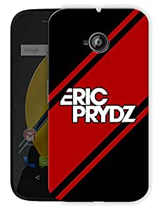 "Eric Prydz Printed Designer Mobile Back Cover For ""Motorola Moto E"" By Humor Gang (3D, Matte Finish, Premium Quality, Protective Snap On Slim Hard Phone Case, Multi Color)"