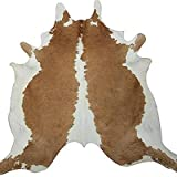 Real South American Cowhide Rug Exotic Beige & White