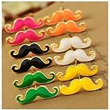 Liroyal Moustache Earrings Green